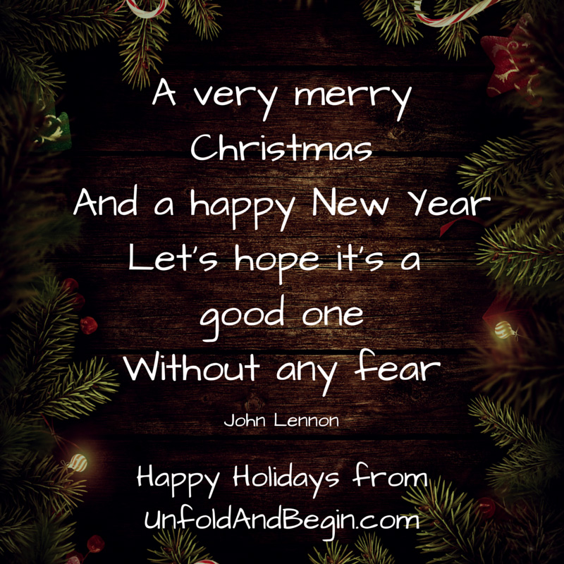 A Very Merry Christmas - Unfold and Begin